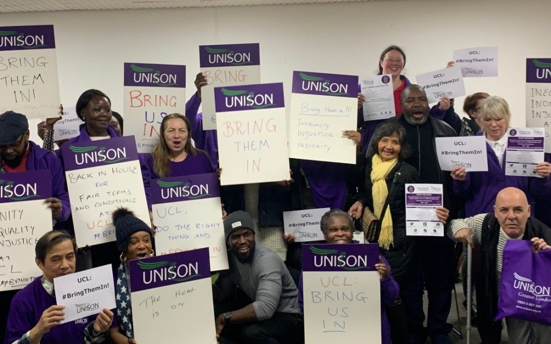 UCL UNISON Bring Them In Campaign