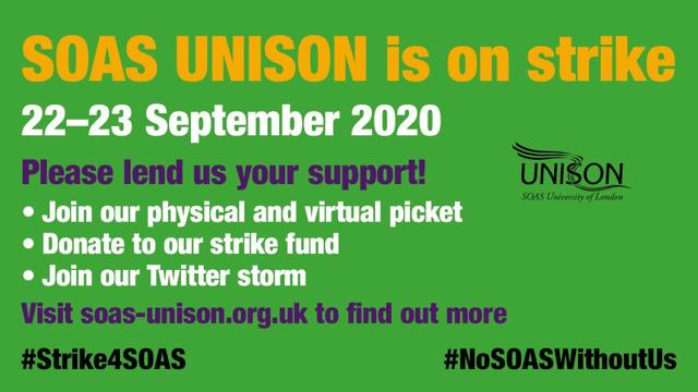 SOAS UNISON is on strike!